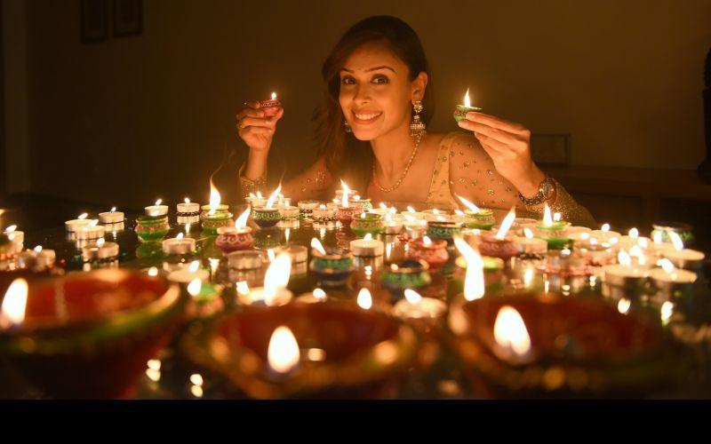 ACTRESS HRISHITAA BHATT CELEBRATES DIWALI with light and the euphoria of festivity