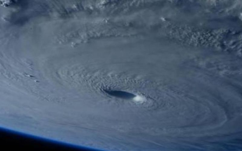 A super typhoon that was captured in spectacular photographs from outer space