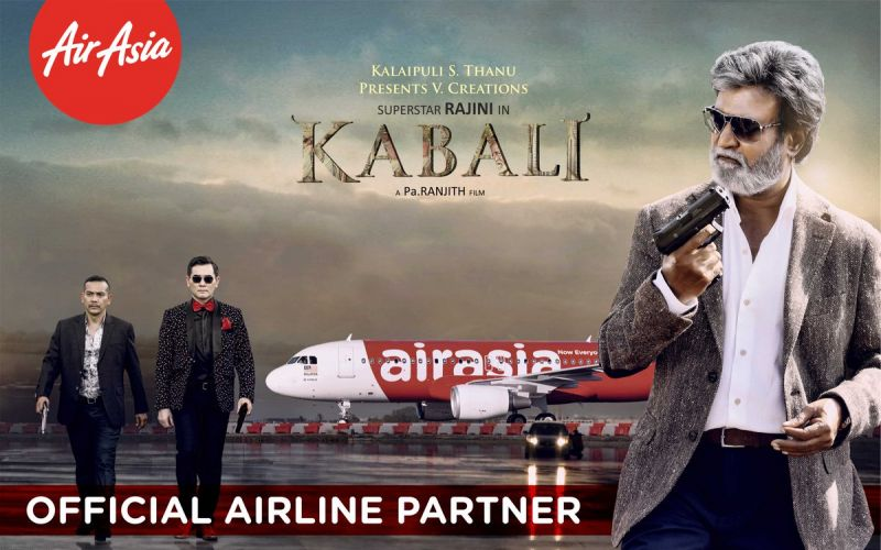 Rajnikanth, Air Asia, Kabali, Movie, South Indian megastar SD: Rajnikanth's latest film Kabali, hasn't even released yet, and the makers have already grossed Rs. 200 crores. Merchandise, endorsement deals and other marketing tactics have been hugely profitable for the movie.
