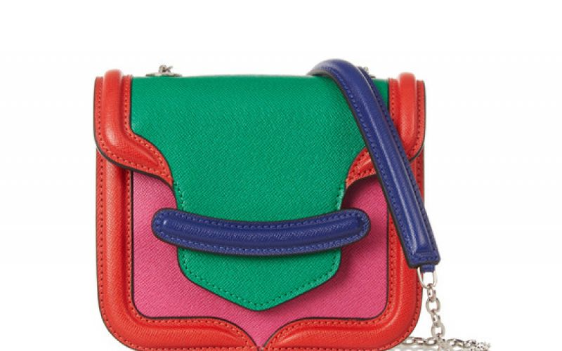 Alexander McQueen The Heroine mini textured-leather shoulder bag