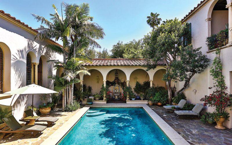 Antonio Banderas and Melanie Griffith home