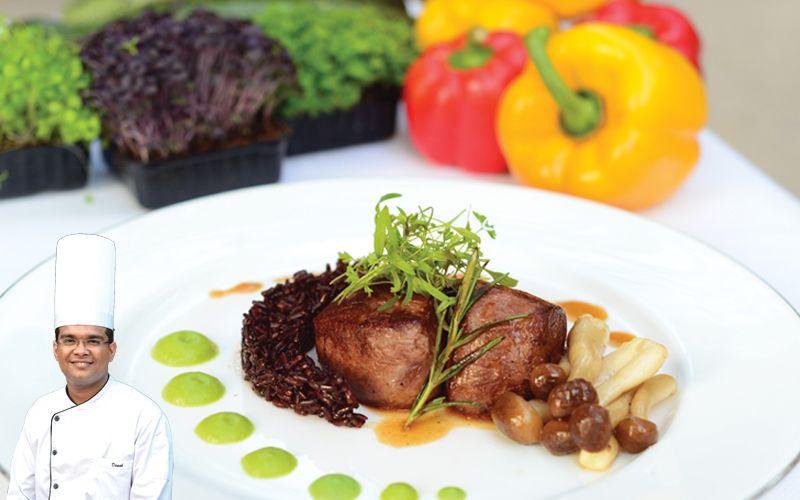 Buffalo-Loin-with-Black-Rice-and-Green-Peas-Mash