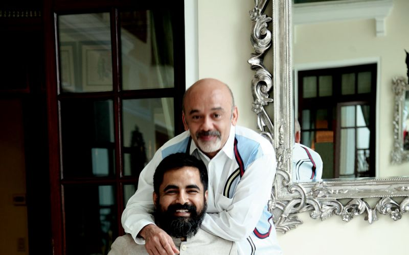 What's seen in Indian fashion, unseen elsewhere: French designer Christian Louboutin