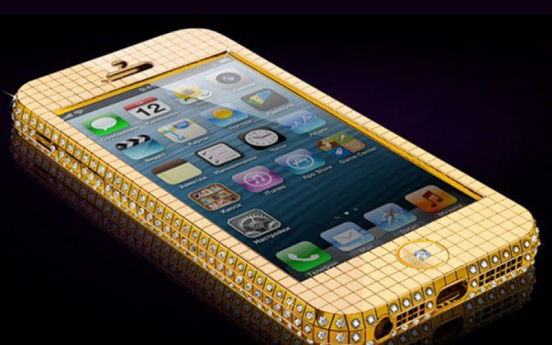 Diamond-Studded 24K Gold iPhone 6