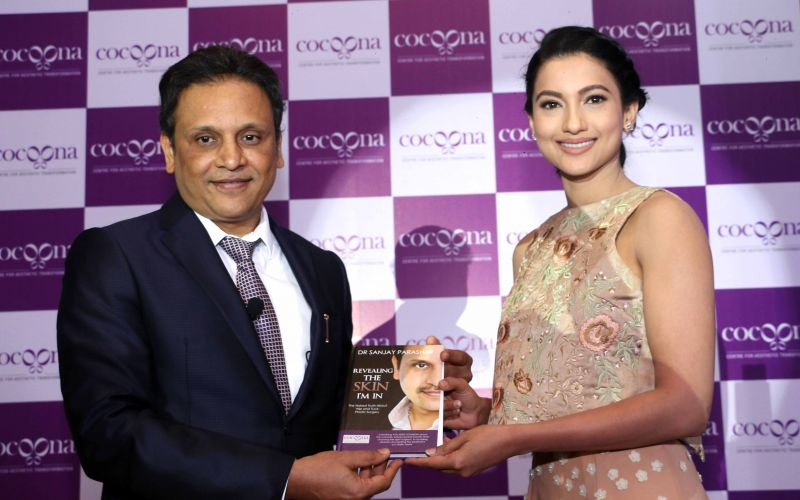 Actress Gauahar Khan launches the Cocoona Centre for Aesthetic Transformation in Delhi