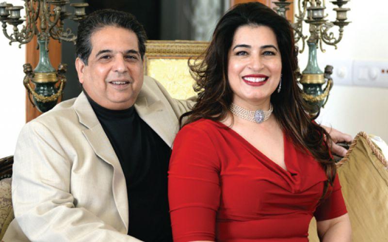 Huma Bilgrami Latif with her Valentine, her husband Asad Latif