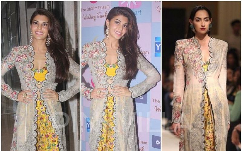 Jacqueline Fernandez in Anamika Khanna at Dhoom Dhaam Wedding Event