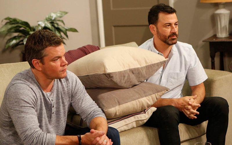 Matt Damon and Jimmy Kimmel At Couple's Therapy