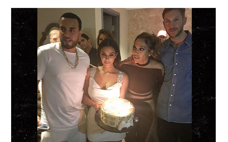 Jennifer Lopez Celebrates Her 47th Birthday With Kim Kardashian And Calvin Harris