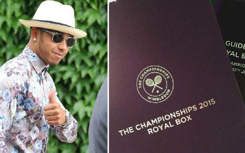 Lewis Hamilton Turned Away From Wimbledon 2015 Final