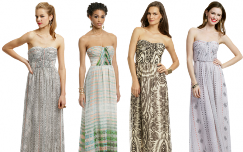 Replace short dresses with the maxi dresses
