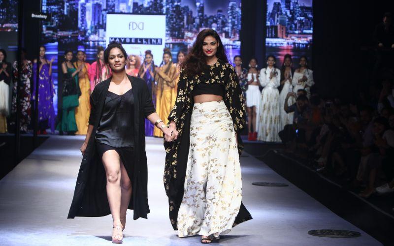 Masaba Gupta interprets 'Vivid' for Maybelline New York on the New Delhi runway