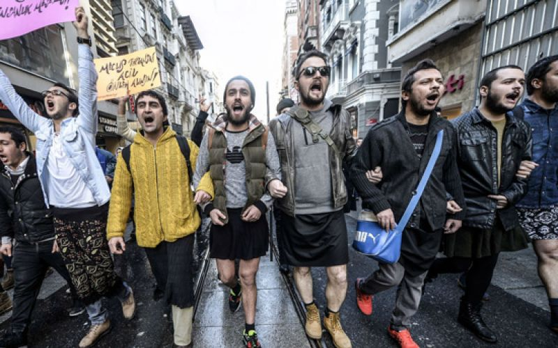 Men In Miniskirts Campaign For Women's Rights In Turkey