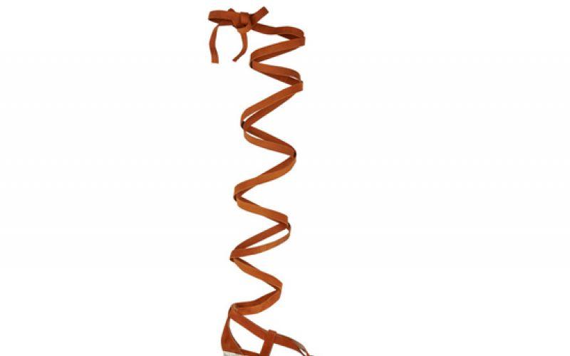 Miu Miu Lace-up suede sandals
