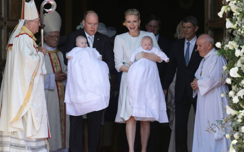 Monaco's Royal Twins Baptised