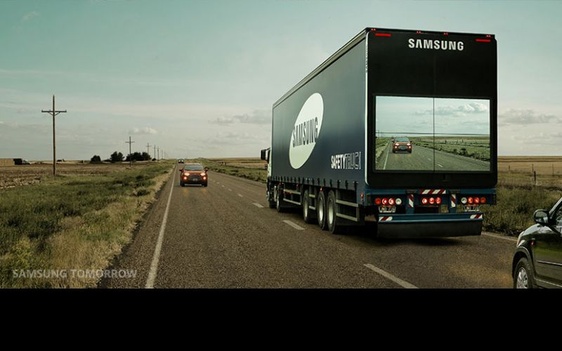 Motorist's safety! Samsung shows the way