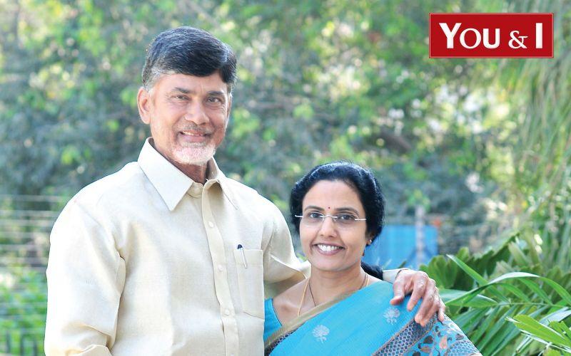 Chandrababu Naidu-with-wife-Bhuvaneswari-Ahead