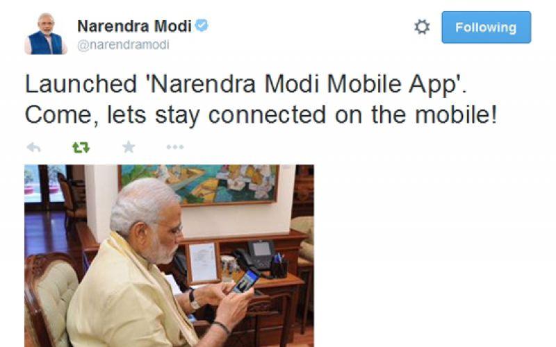 Narendra Modi Mobile App Launched