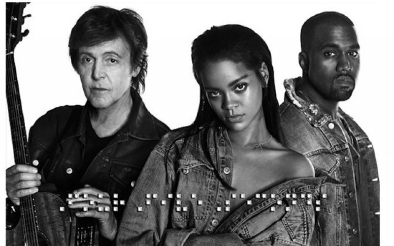Watch-Rihanna's-'FourFiveSeconds'-Video-Featuring-Paul-McCartney-Kanye West