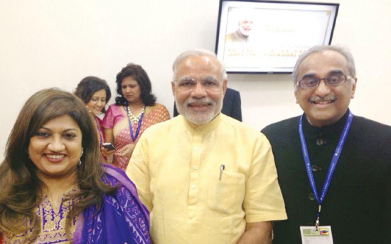 Sashi Mukundan with Narendra Modi