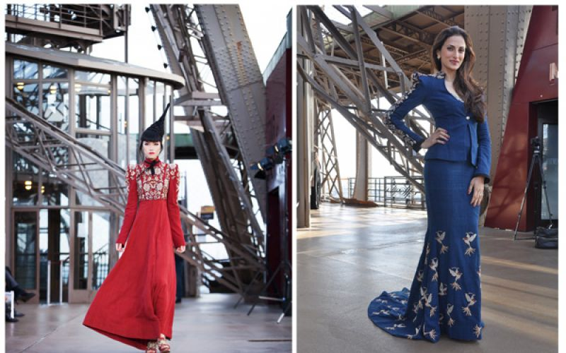 Designer Shilpa Reddy showcases collection at the Eiffel Tower