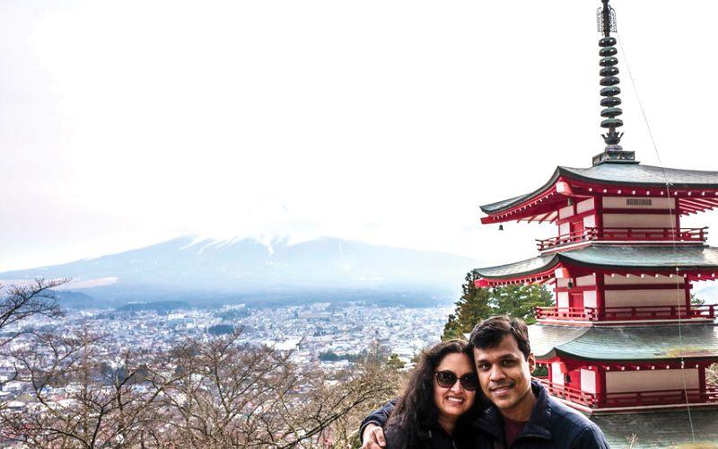 Simren-Saxena-and-her-husband-japan-trip