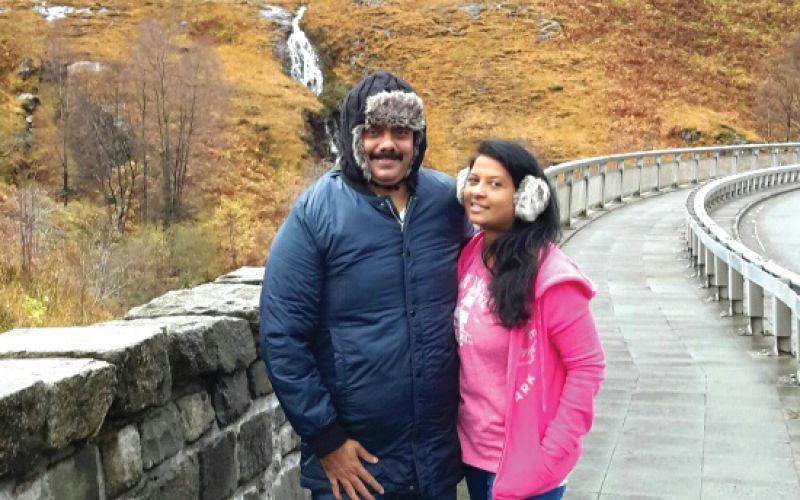 Venkat Sudhakar with Shobha to Scotland