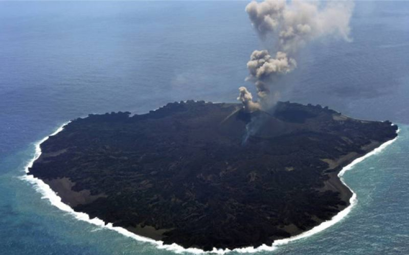 Volcano Forms New Japanese Island Nishinoshima