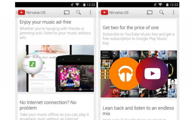 YouTube launches paid service, Music Key