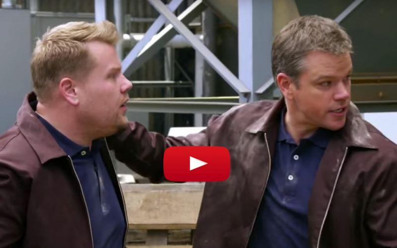 Watch Matt Damon Trick James Corden