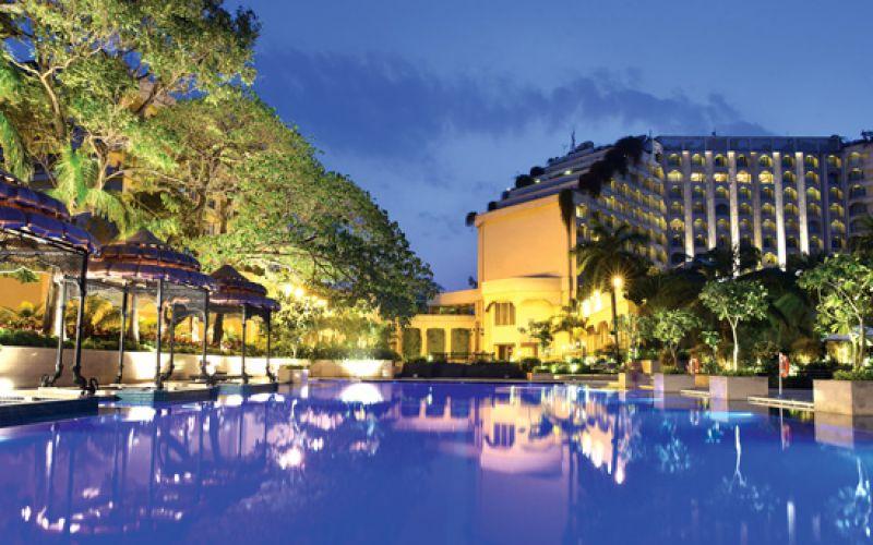 swimming pool at the Taj Krishna