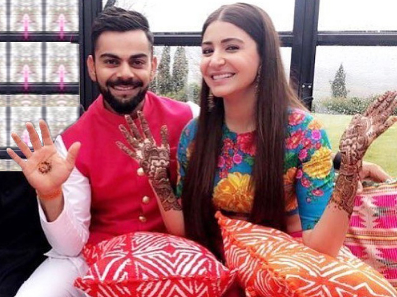 Virat and Anushka at Mehendi