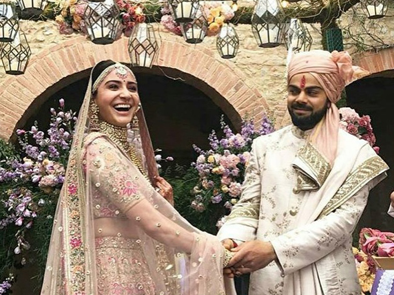 Virat and Anushka at wedding